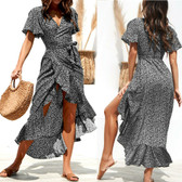 Black #5 Women Boho Long Maxi Casual Dress Evening Party Beach Dresses Summer Sundress