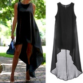 Black #7 Women Boho Long Maxi Casual Dress Evening Party Beach Dresses Summer Sundress