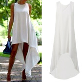 White #7 Women Boho Long Maxi Casual Dress Evening Party Beach Dresses Summer Sundress