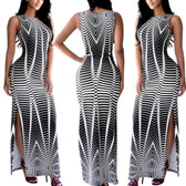 Gray #9 Women Boho Long Maxi Casual Dress Evening Party Beach Dresses Summer Sundress