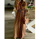 Khaki #11 Women Boho Long Maxi Casual Dress Evening Party Beach Dresses Summer Sundress