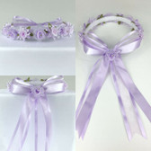 Lilac Purple Headpiece Flower Girl Dress Headpiece (All Size)