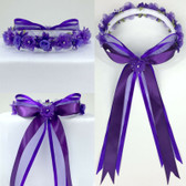 Purple Headpiece Flower Girl Dress Headpiece (All Size)