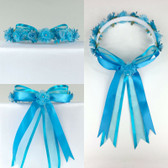 Turquoise Headpiece Flower Girl Dress Headpiece (All Size)