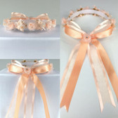 Peach Headpiece Flower Girl Dress Headpiece (All Size)