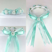 Aqua Headpiece Flower Girl Dress Headpiece (All Size)