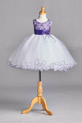 Purple Lace Tulle Flower Girl Dress #2