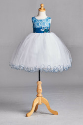 Peacock Lace Tulle Flower Girl Dress #2