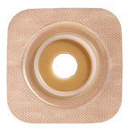 """SUR-FIT Natura Stomahesive Flexible Skin Barrier with Precut Openings with 57mm 2-1/4"""") Flange with Tan tape collar (overall dimensions 5"""" x 5"""")"""