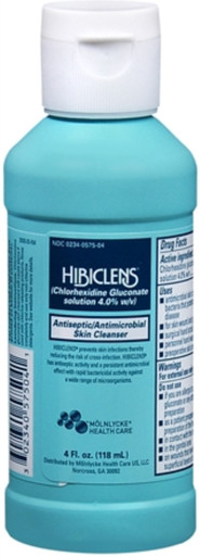 HIBICLENS Liquid 4 oz. Antiseptic and Antimicrobial Skin Cleanser