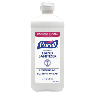 Hand Sanitizer, 16 oz., Pour Bottle, Gel, Purell