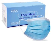 Yadu Disposable Procedural Face Mask for Medical Use (FDA approved) Blue 50/BX
