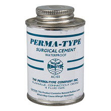 Permatype Surgical Adhesive Cement for use with ostomy appliances.