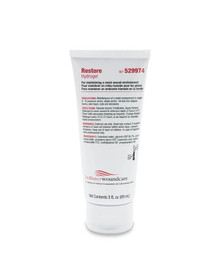 Reference# 529974 Hollister Restore® Amorphous Hydrogel for treating wounds. It comes in a 3 ounce tube and is a clear, viscous gel to assist in keeping the wound moist and can be worn for up to 72 hours.