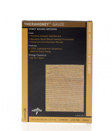 "TheraHoney Gauze Honey Sheet Dressings 4""x5"""