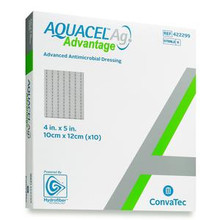 "422299 Aquacel® Ag Advantage Wound Dressing, 4"" x 5"", EACH"