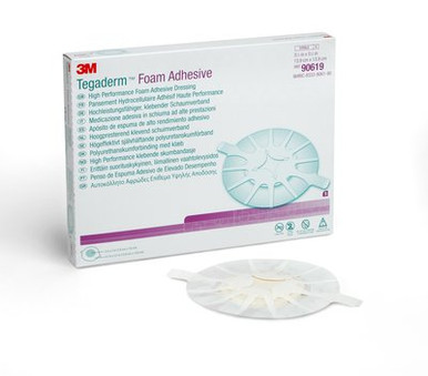 3M Tegaderm High Performance Foam Adhesive Dressing 90619, Heel Design