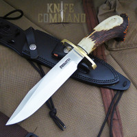 Randall Made Knives Pre-Owned Model 14 Attack SS Crown Stag Lugged Hilt Knife