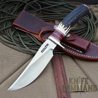 Randall Made Knives Model 27 Trailblazer Stag Hunting Knife.