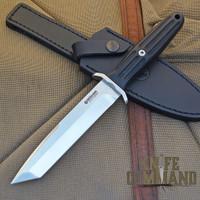 BOKER SPECIAL RUN APPLEGATE EBONY TANTO FIXED BLADE KNIFE.  Ebony handle, only 199 made.