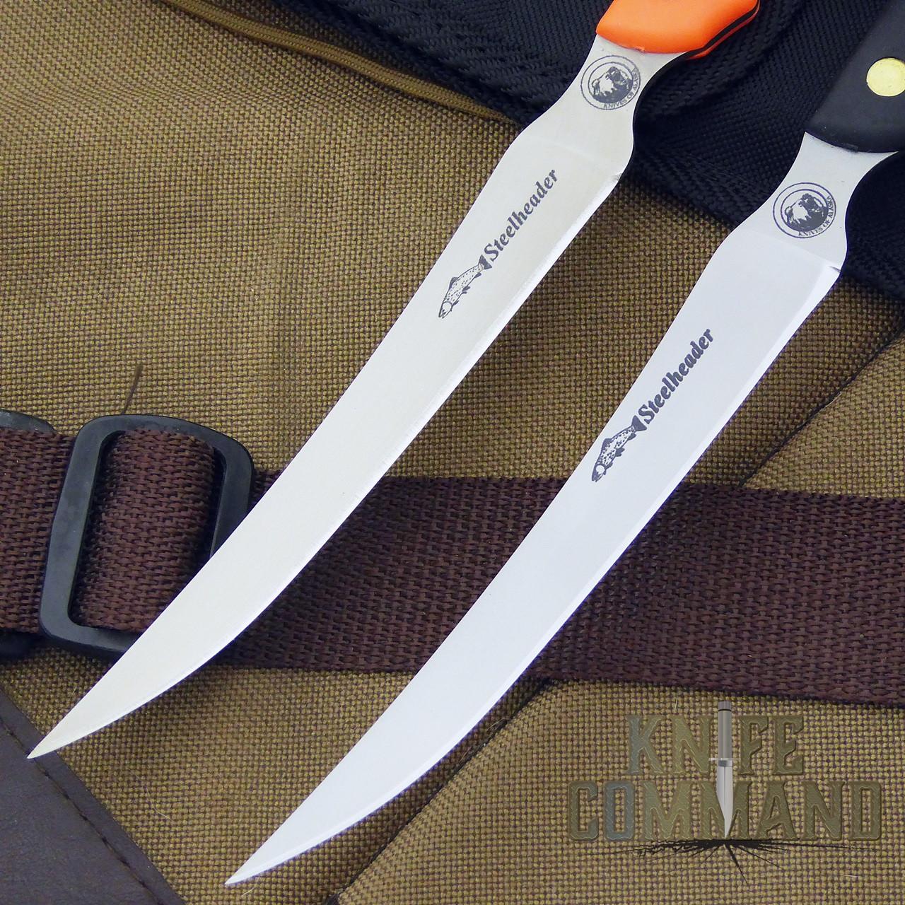 Knives of Alaska Steelheader Fillet Knife.  440C stainless steel blade.