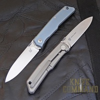 Fox Knives Bob Terzuola Titanium Framelock Knife.  Semi-custom knife designed by Bob Terzuola.