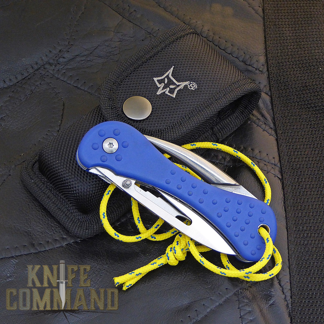 Fox Knives Sailing Knife with Marlin Spike and Multi Tool FX-235.   Folds up and comes with a nice belt sheath.