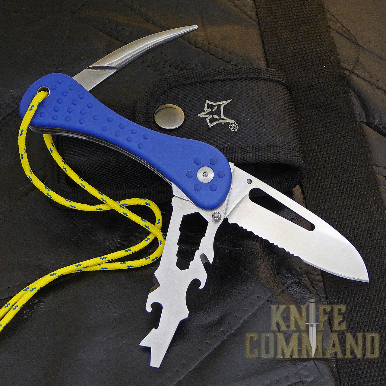 Fox Knives Sailing Knife with Marlin Spike and Multi Tool FX-235.  Packed with features for everyday situations.