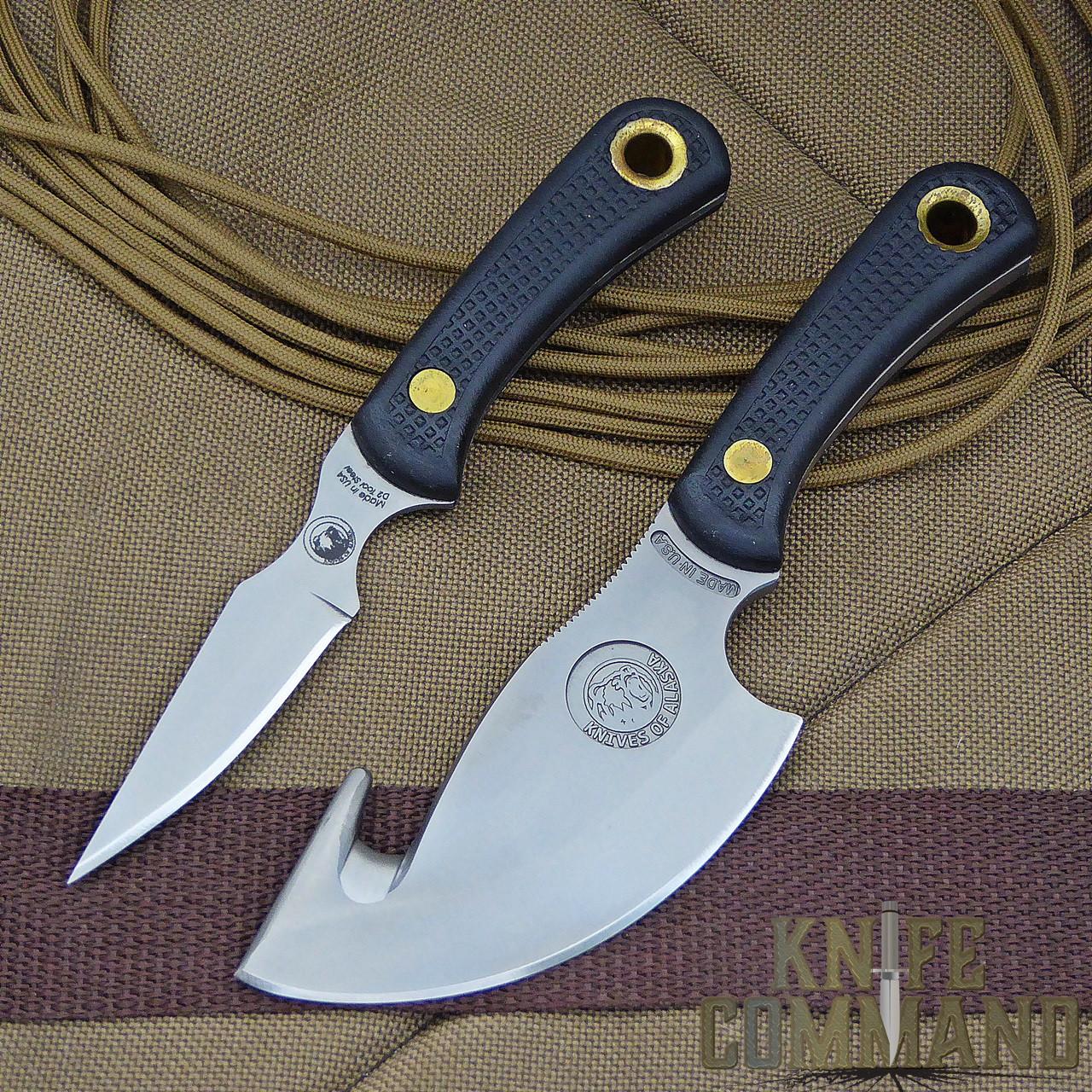 Knives of Alaska Light Hunter Suregrip Hunting Knife Combo.  The preferred combo for medium sized game.