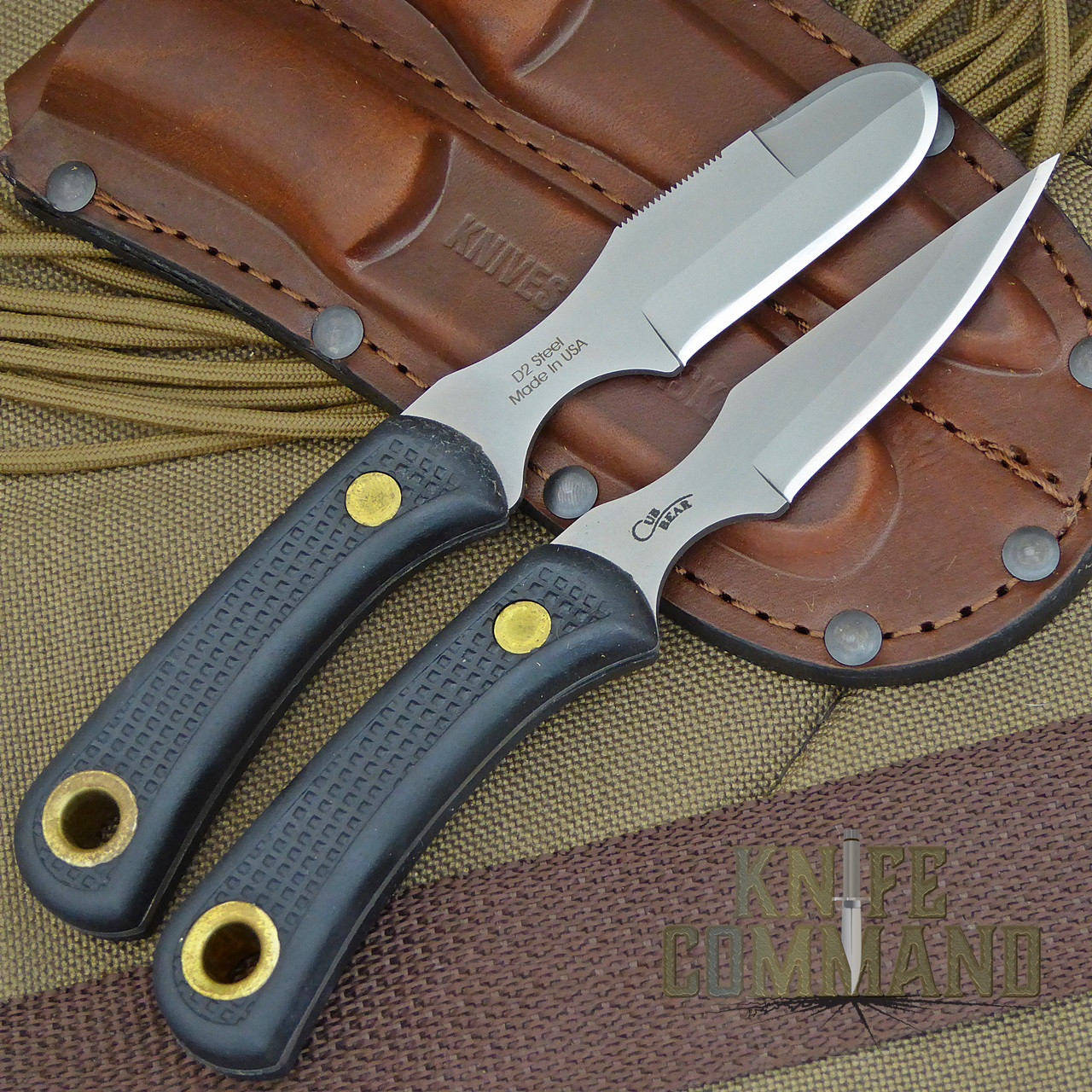 Knives Of Alaska Muskrat Cub Bear Suregrip Hunting Knife