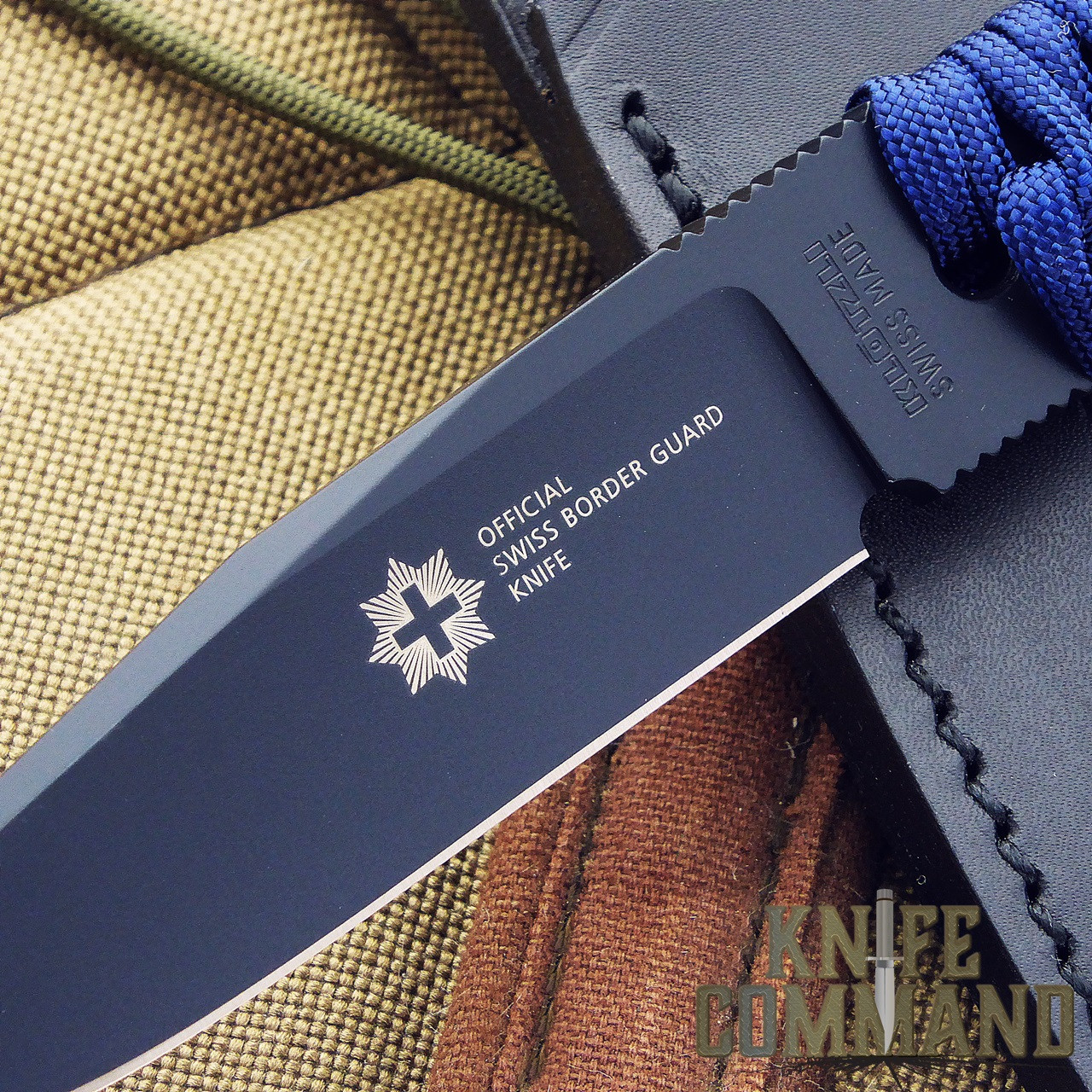 Klotzli Knives Official Swiss Border Guard Knife.  Marked with the official logo.