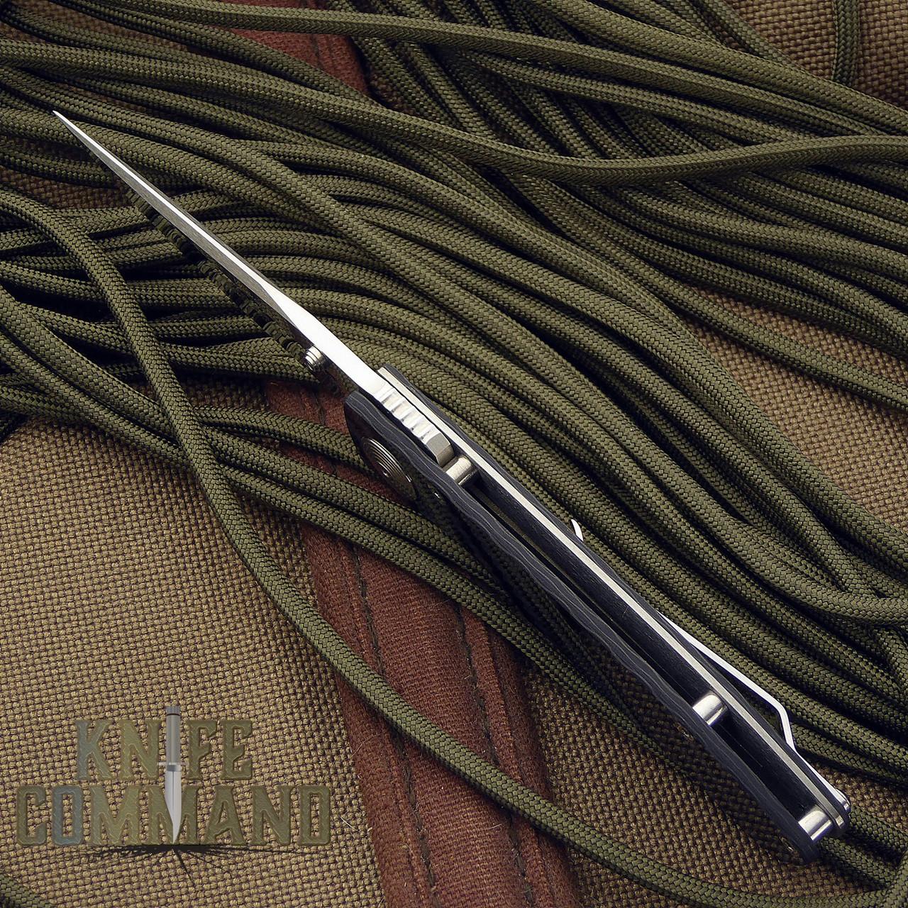 Klotzli Knives Michael Walker ACC-M1-C Carbon Fiber Titanium Folding Knife.  Slim and lightweight.