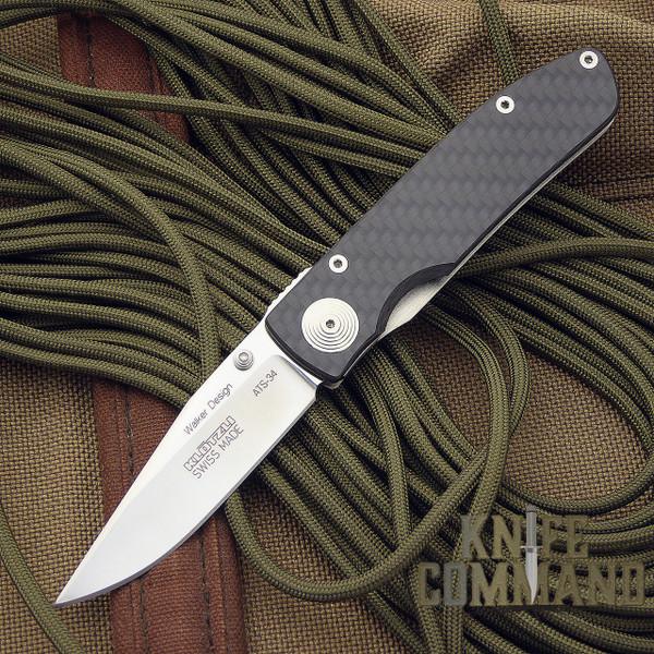 Klotzli Knives Michael Walker ACC-M1-C Carbon Fiber Titanium Folding Knife.  A Klotzli and Walker design since 1995.