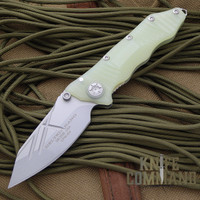 Guardian Tactical Deltrix Nano Jade Green Satin Knife.  Compact tactical combat folder.