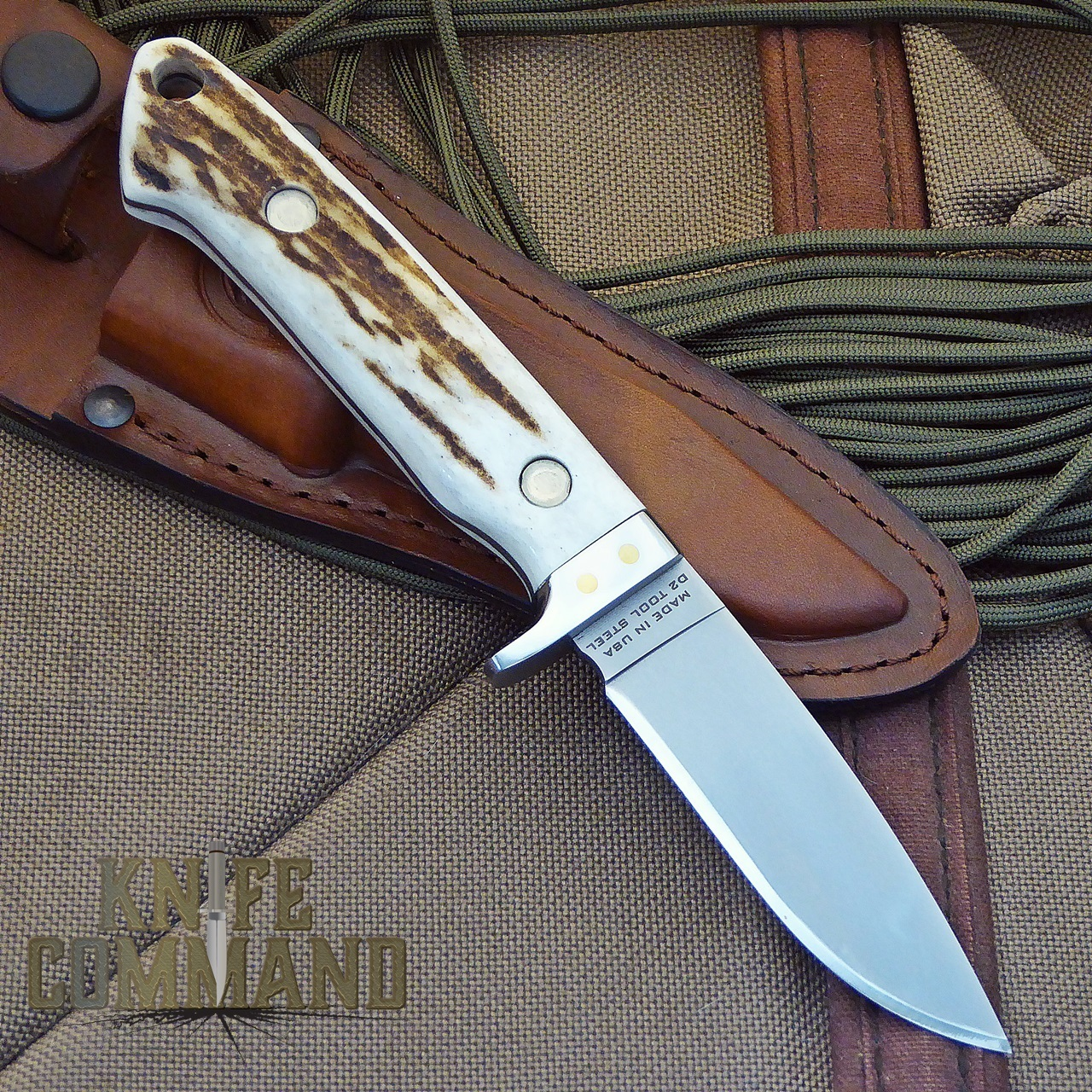 Knives of Alaska The Legacy Stag Hunting Knife.  Fit and finish are terrific.