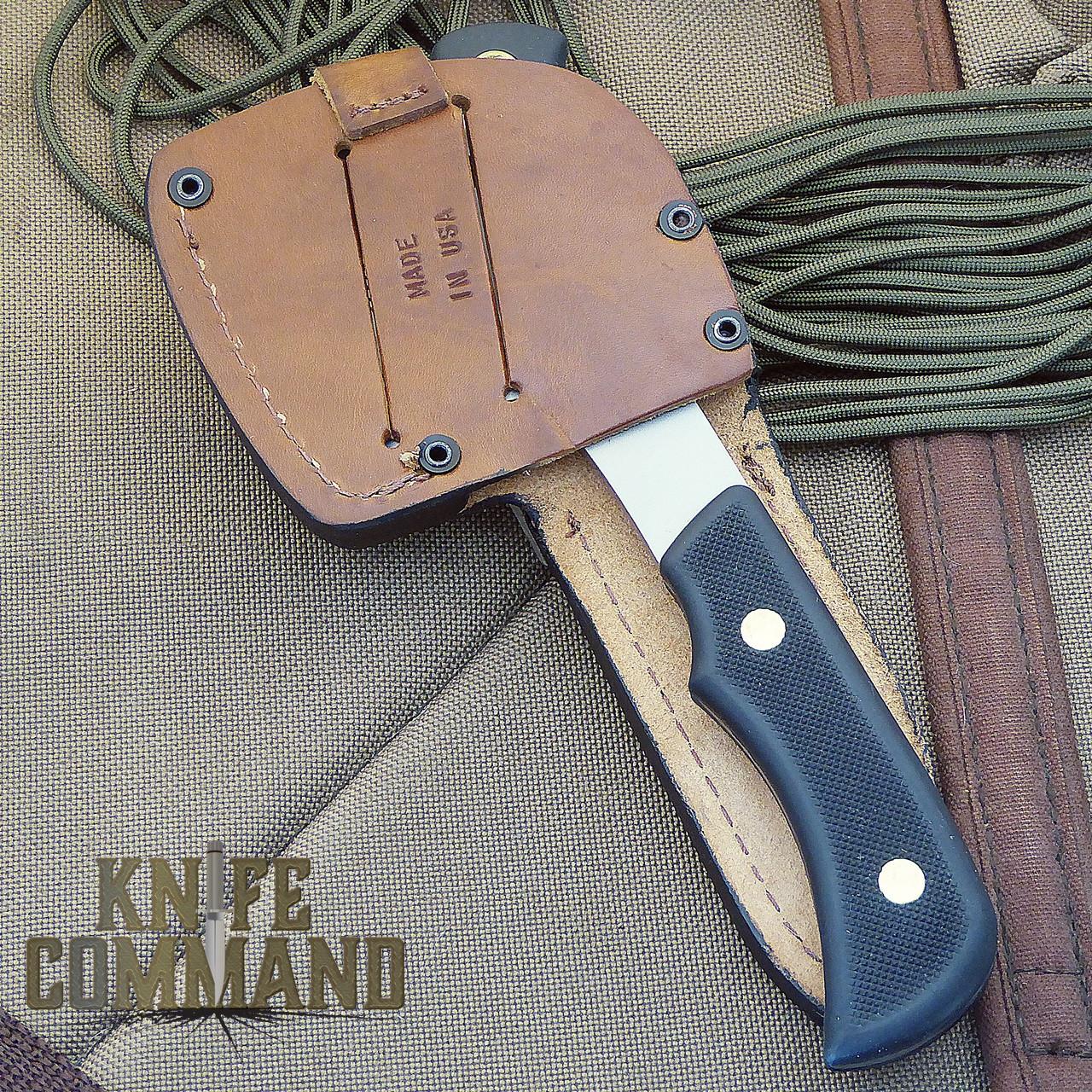 Knives of Alaska Bobcat Mini Hatchet Alpha Wolf Hunting Knife Combo.  Carried easily on your belt.