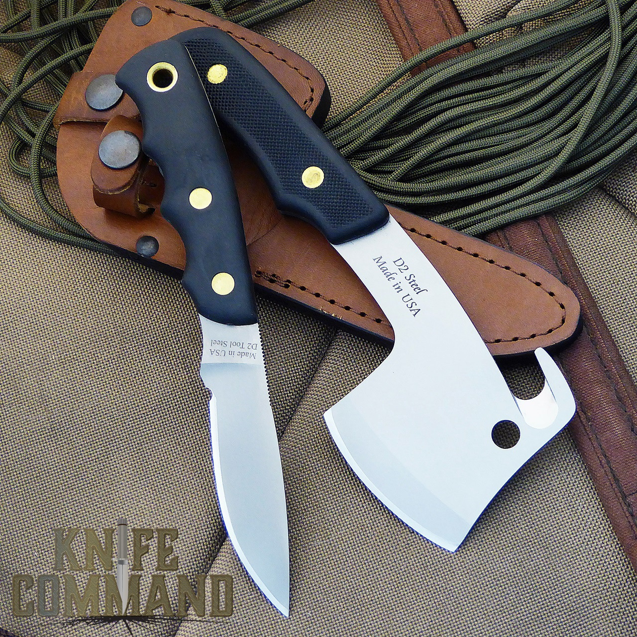 Knives of Alaska Bobcat Mini Hatchet Alpha Wolf Hunting Knife Combo.  Great for hunting or camping.