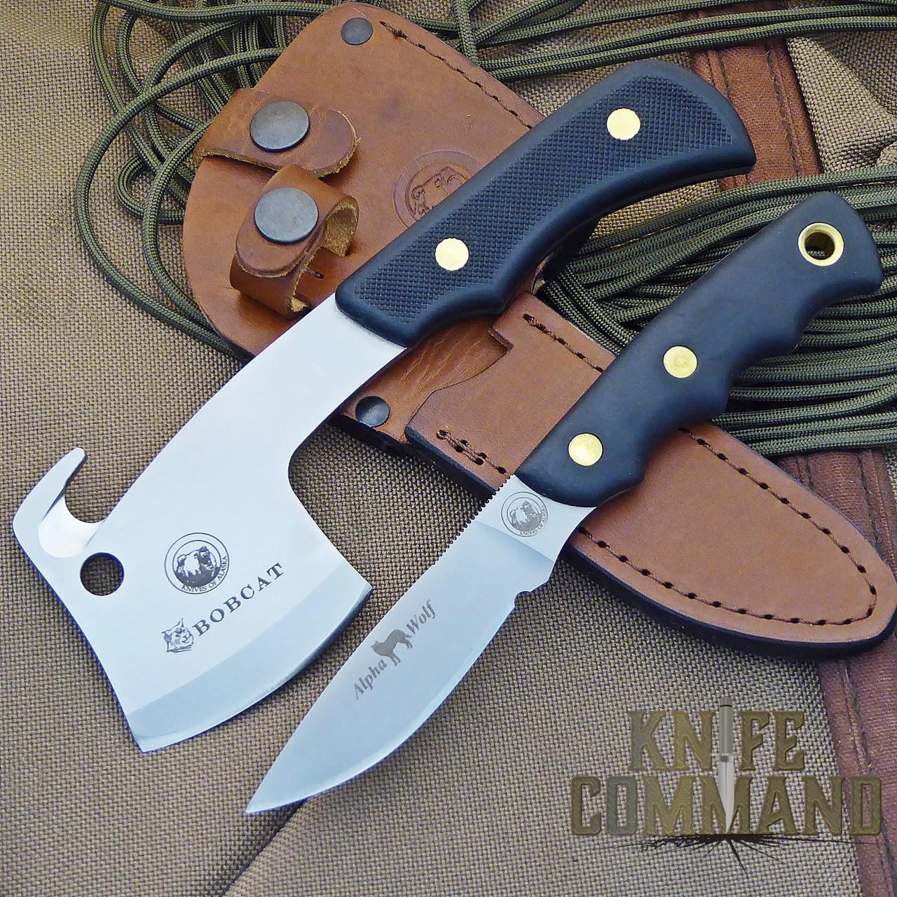 Knives of Alaska Bobcat Mini Hatchet Alpha Wolf Hunting Knife Combo.  Bobcat Mini Hatchet plus Alpha Wolf knife.