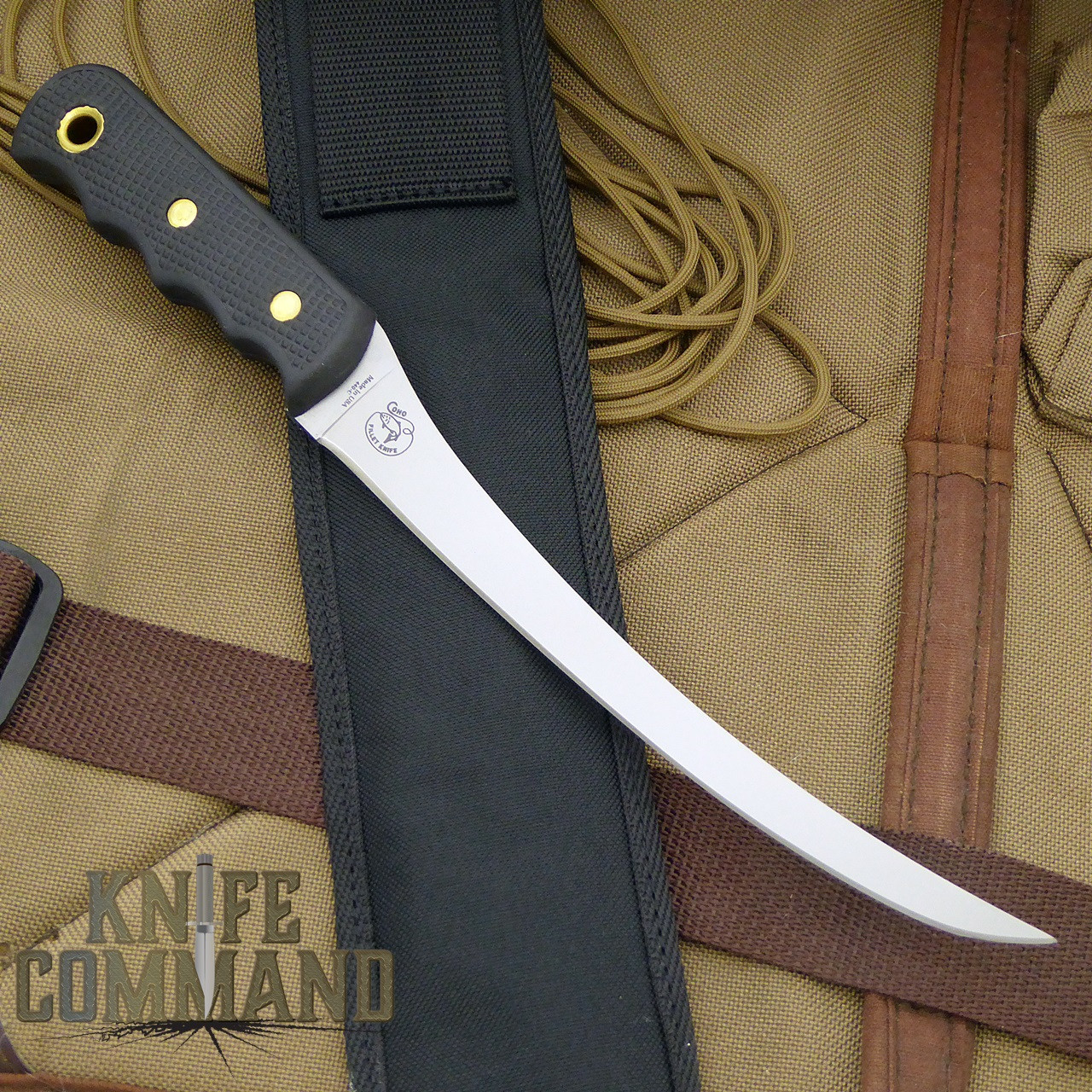 Knives of Alaska Coho Fillet Knife.  Nylon sheath with hard insert.