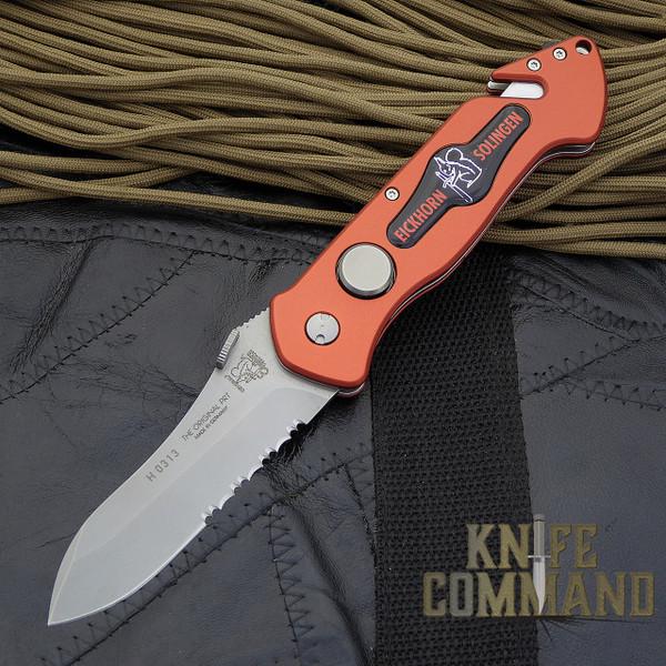 Eickhorn Solingen PRT II Red Firefighter Emergency Rescue Knife.  The Original pocket rescue tool!