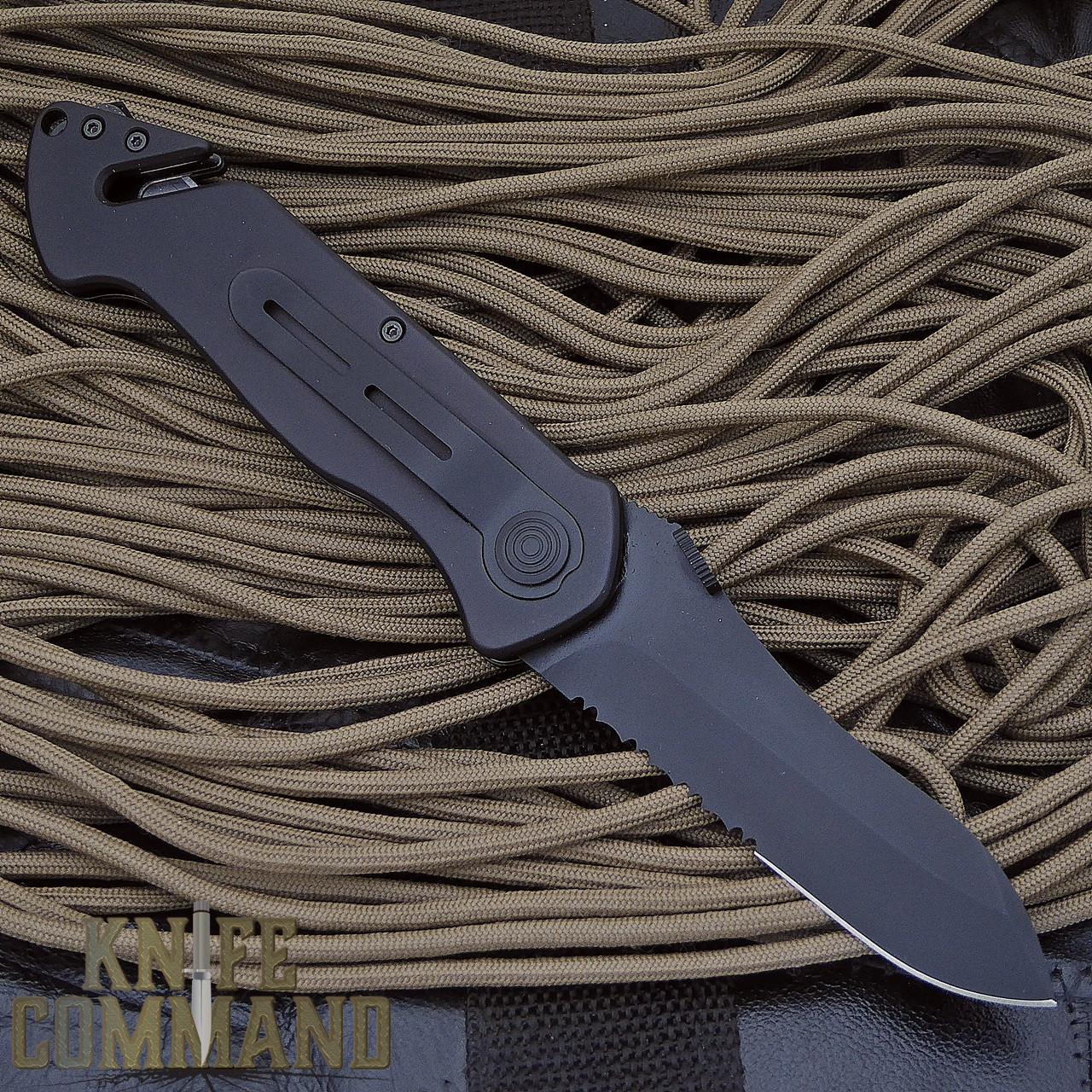 Eickhorn Solingen PRT VIII Black Tactical Emergency Rescue Knife.  Pocket clip.