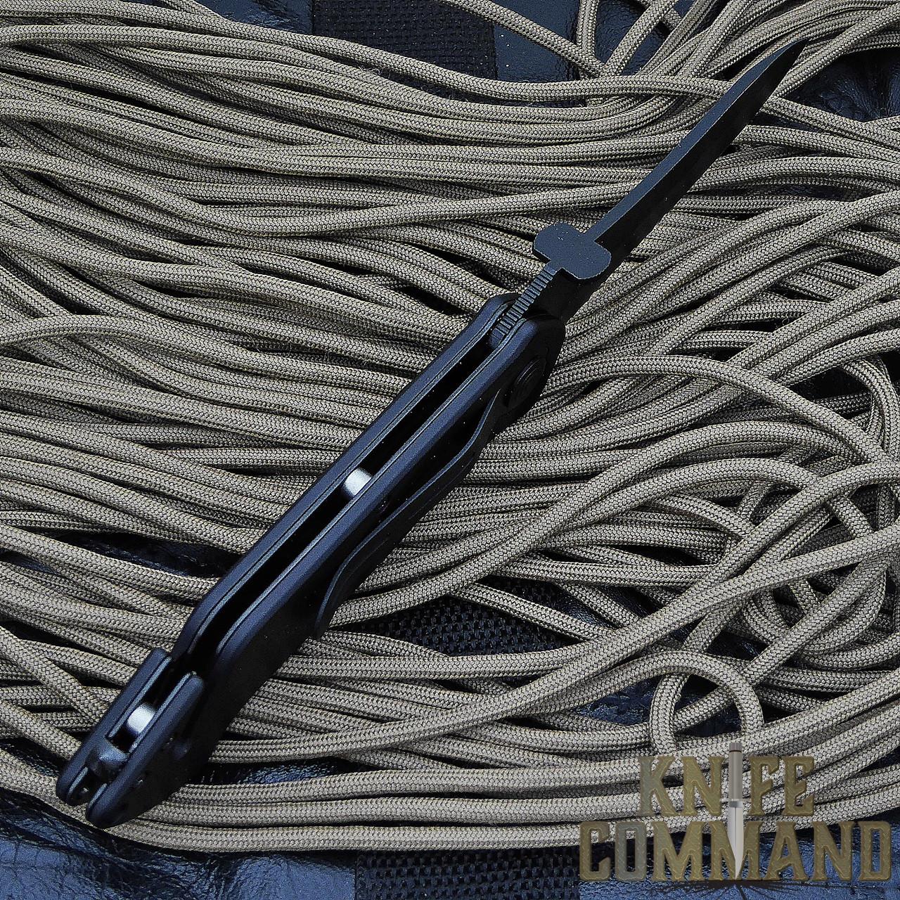 Eickhorn Solingen PRT VIII Black Tactical Emergency Rescue Knife.  Slim, open back design.
