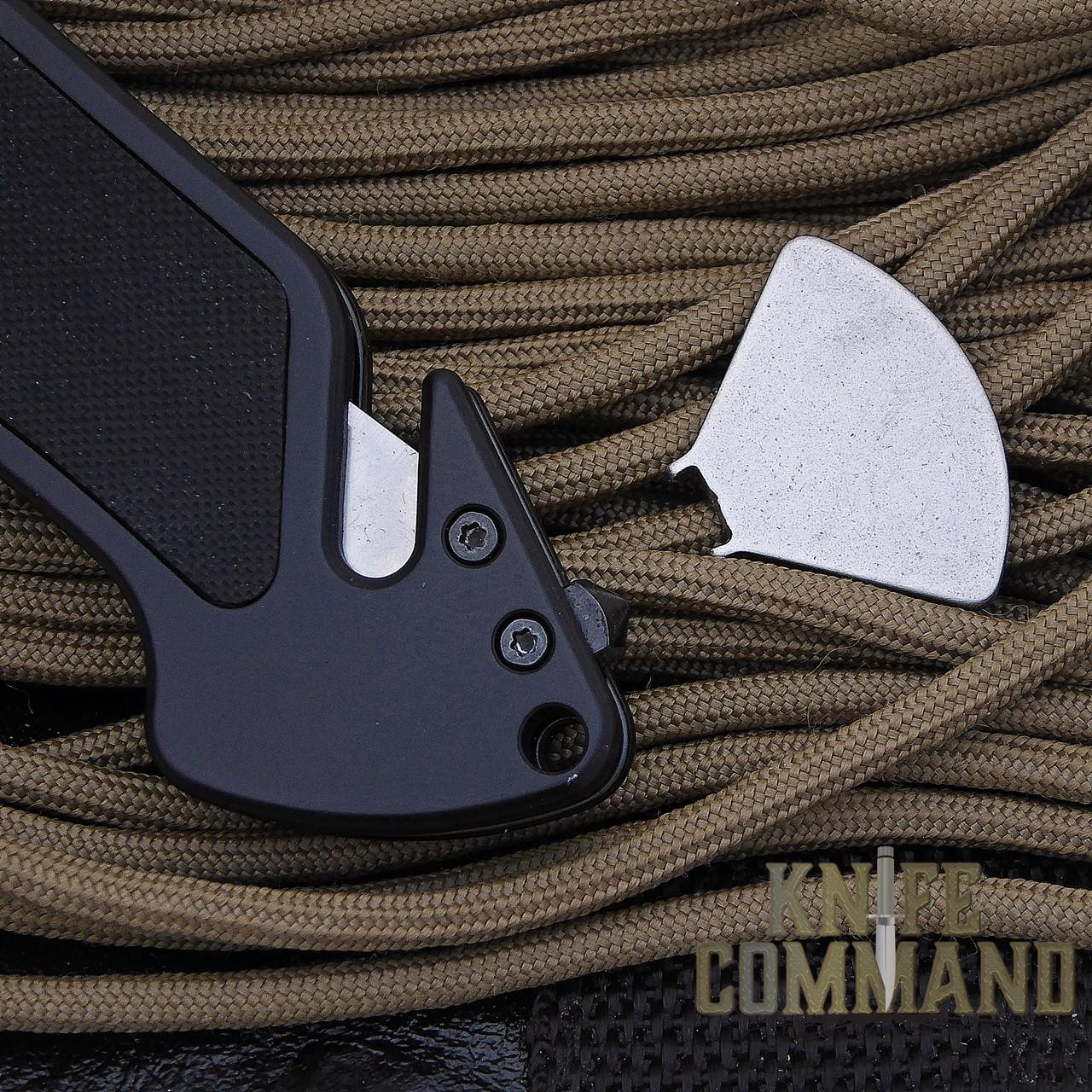 Eickhorn Solingen PRT VIII Black Tactical Emergency Rescue Knife.  Belt cutter, glass breaker, pivot tool.