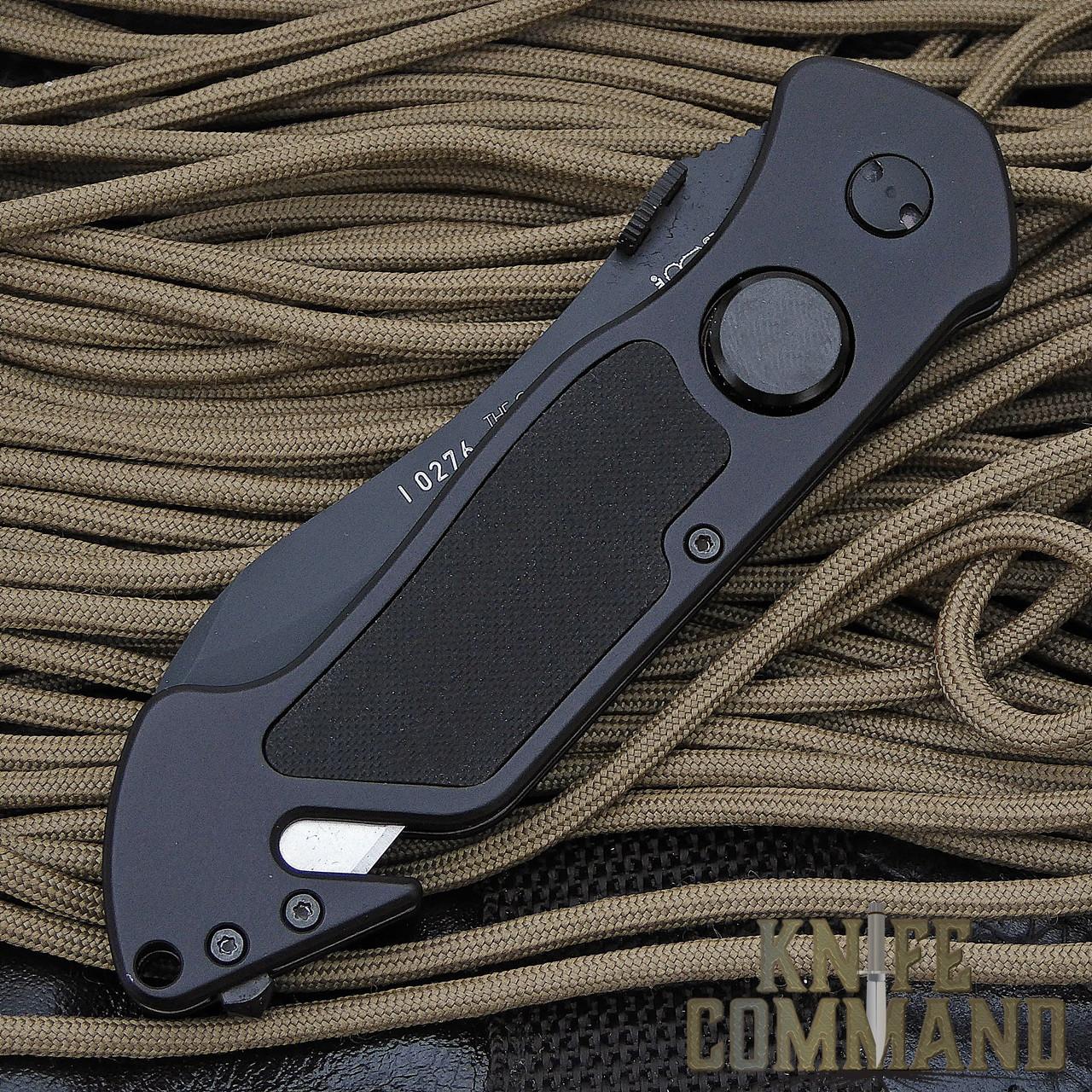 Eickhorn Solingen PRT VIII Black Tactical Emergency Rescue Knife.  Comfortable pocket carry.