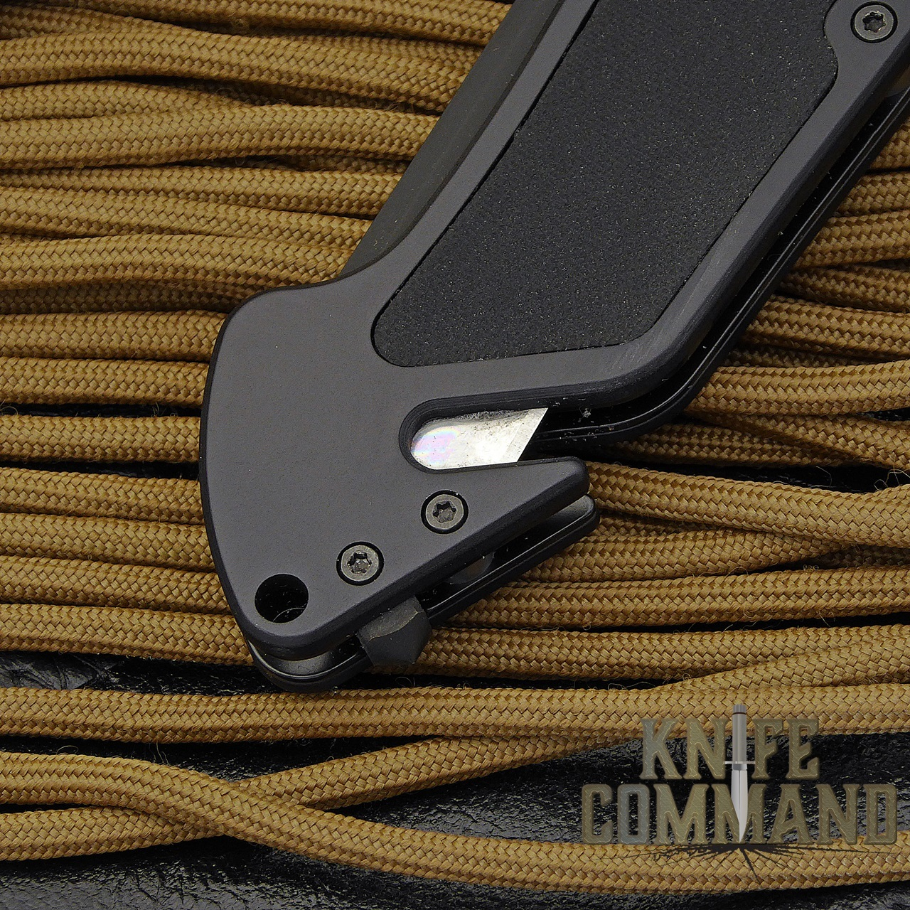 Eickhorn Solingen PRT X Black Tanto Tactical Emergency Rescue Knife.  Glass breaker and belt cutter.