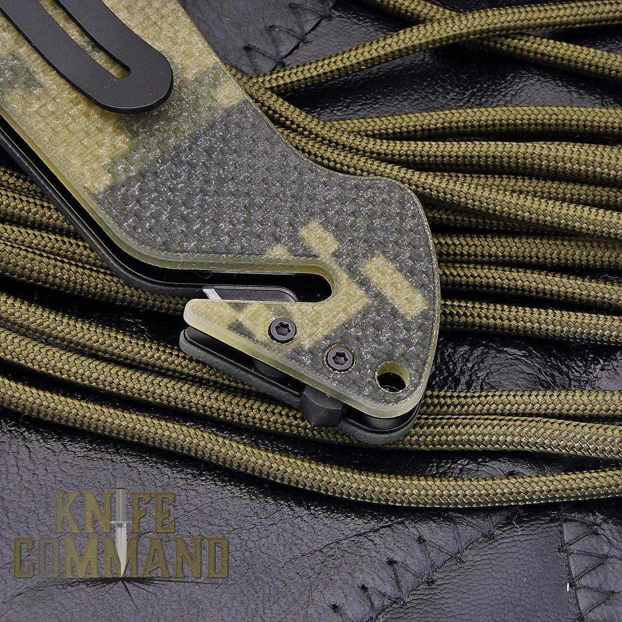 Eickhorn Solingen PRT X Digicam G10 Tanto Tactical Emergency Rescue Knife.  Glass breaker and belt cutter.