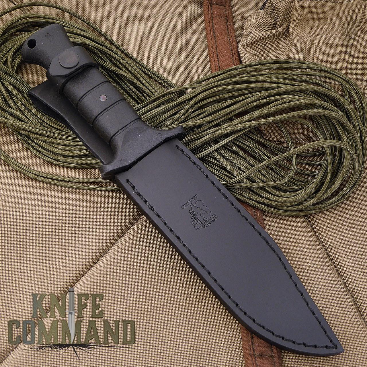 Eickhorn Solingen Wolverine German Expedition Knife.  Black leather Eickhorn sheath.