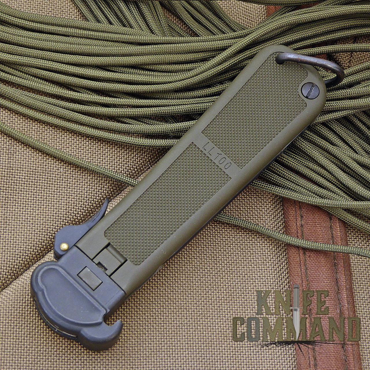 Eickhorn Solingen LL100 Paratrooper Knife.  Blade slides easily into handle.