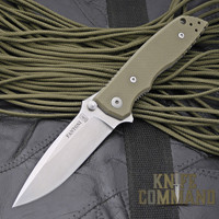 Fantoni HB 01 William Harsey Green Combat Folder Tactical Knife.  Green is a perfect for Military use.