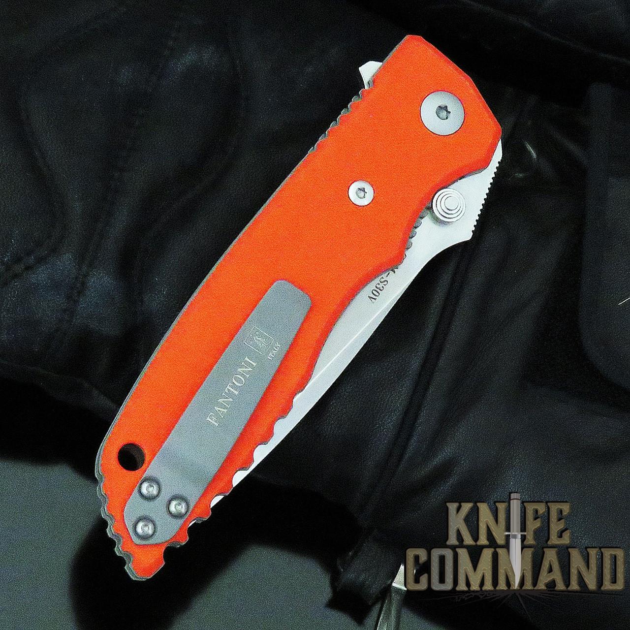 Fantoni HB 01 William Harsey Orange Combat Folder Tactical Knife